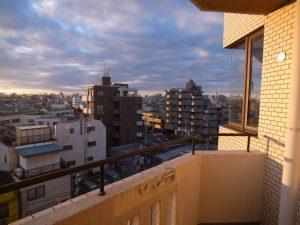 バルコニーからの眺望ぬけてます