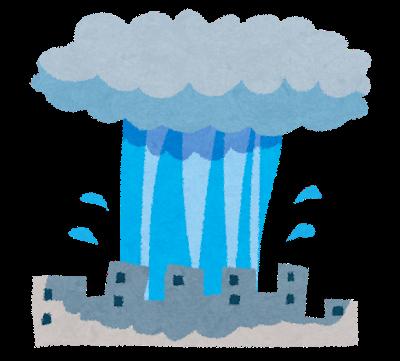 台風の影響で豪雨となり雨漏り発生