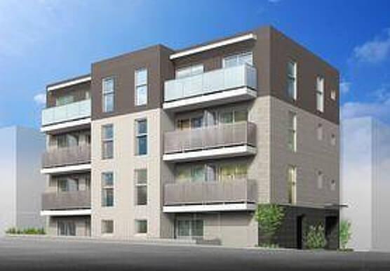3月完成予定の渋谷区初台2丁目新築賃貸マンション